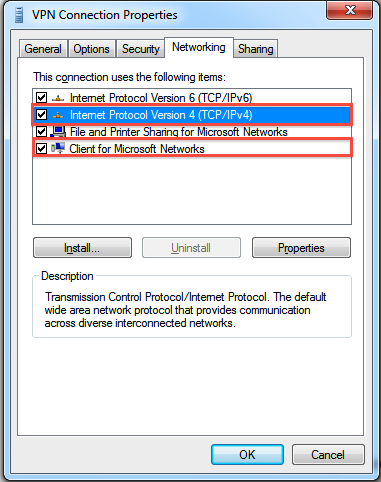 Set static ip in vpn