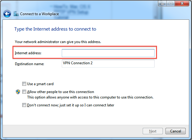 Use vpn to connect to windows server essentials