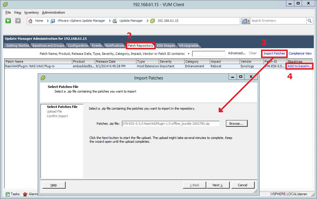 How do I install Synology NFS VAAI Plug-in on an ESXi host