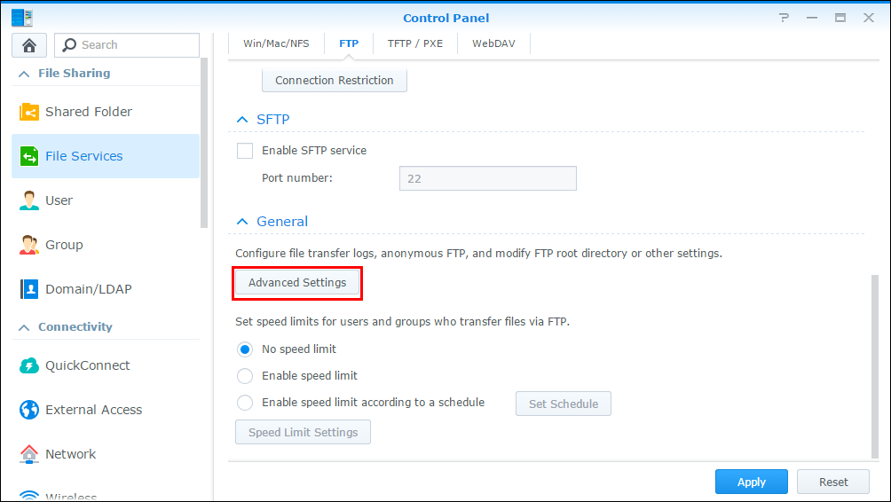 How to access files on Synology NAS via FTP | Synology Inc
