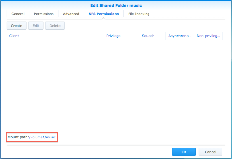 How to access files on Synology NAS within the local network (NFS