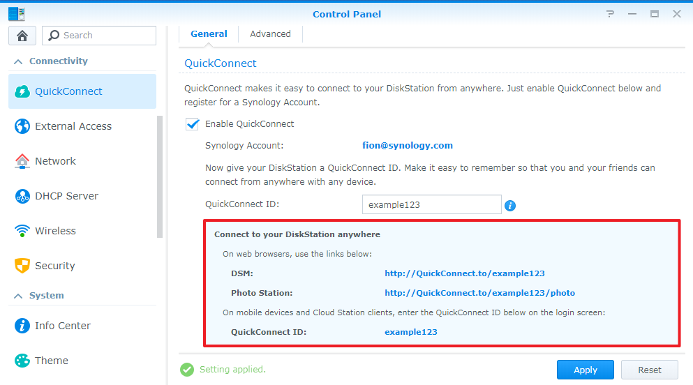 How do I change the QuickConnect ID for my Synology NAS? | Synology Inc.
