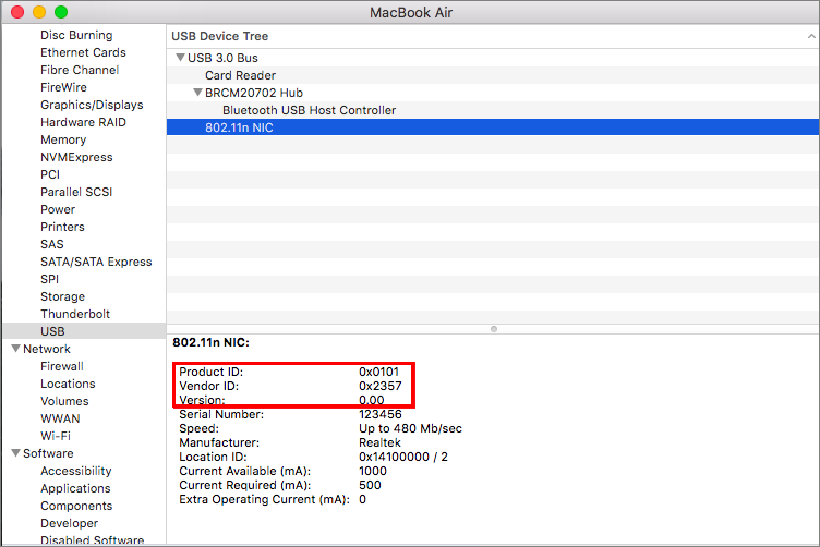How do I check the PID and VID of my USB device? | Synology Inc