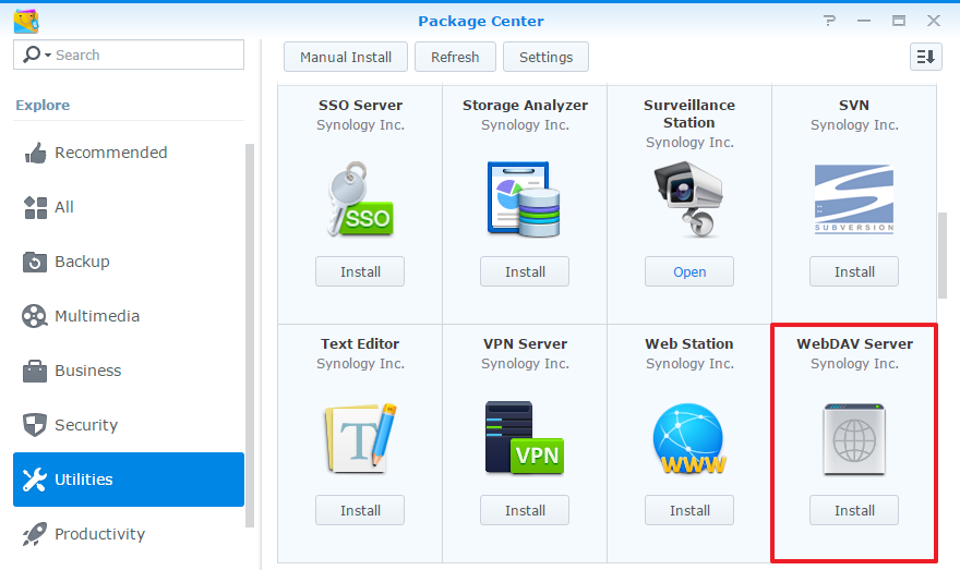 How to access files on Synology NAS with WebDAV | Synology Inc