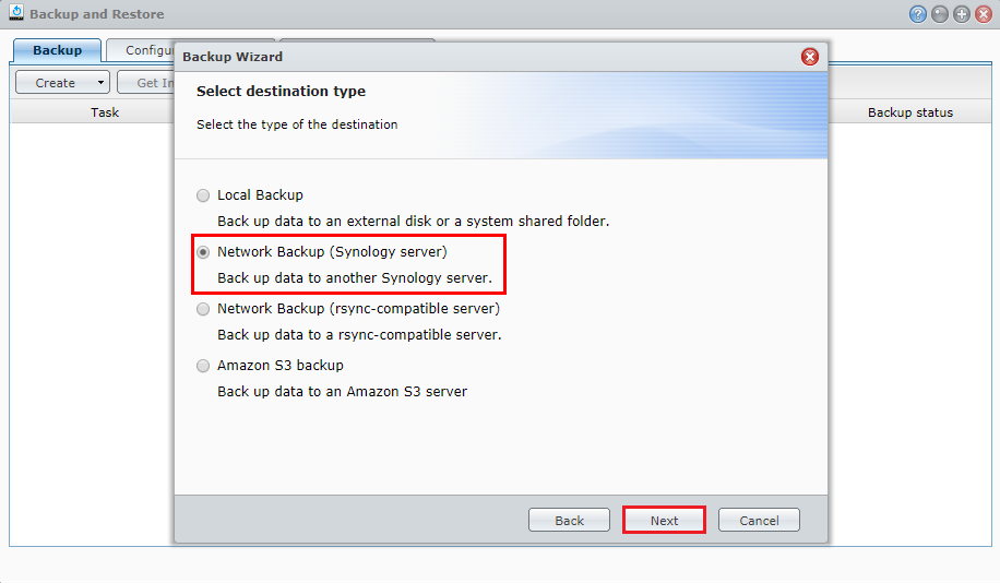 How to back up data from one Synology NAS to another Synology NAS