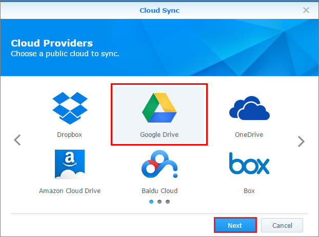 How to back up the data in my Google Drive with Cloud Sync