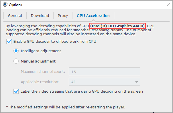 How to enable GPU acceleration on Surveillance Station