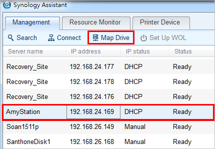 How to map network drives via Synology Assistant | Synology Inc