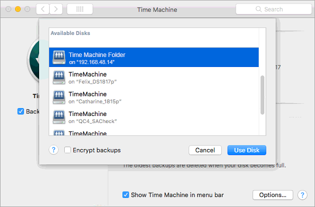 How to back up files from Mac to Synology NAS with Time