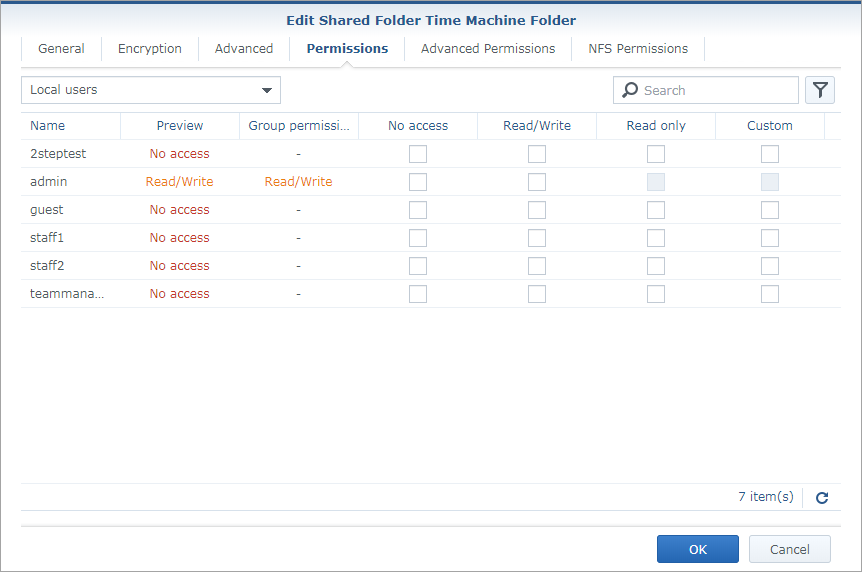 time machine synology