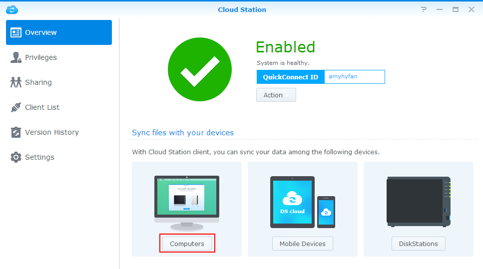 How to back up the data on my PC/Mac using Cloud Station