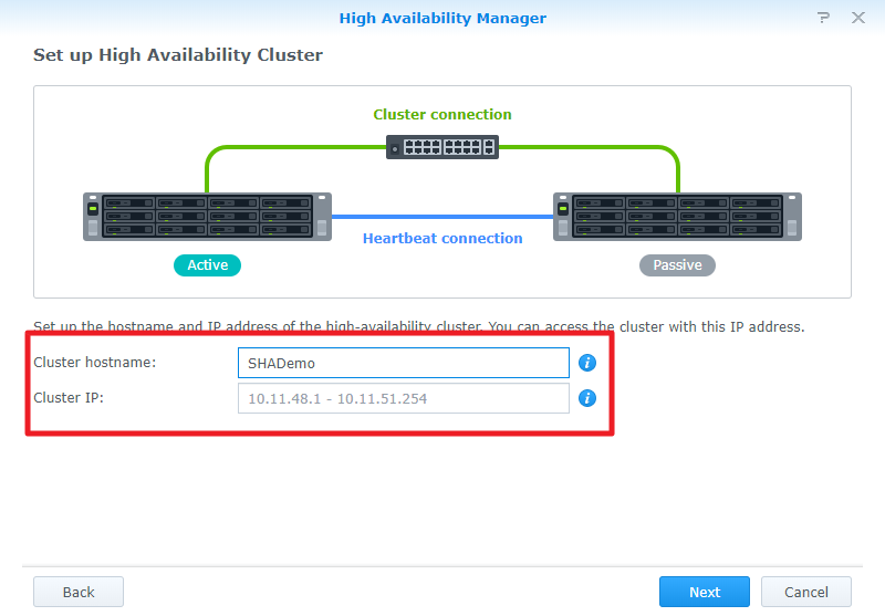 How to create a high-availability configuration with Synology NAS