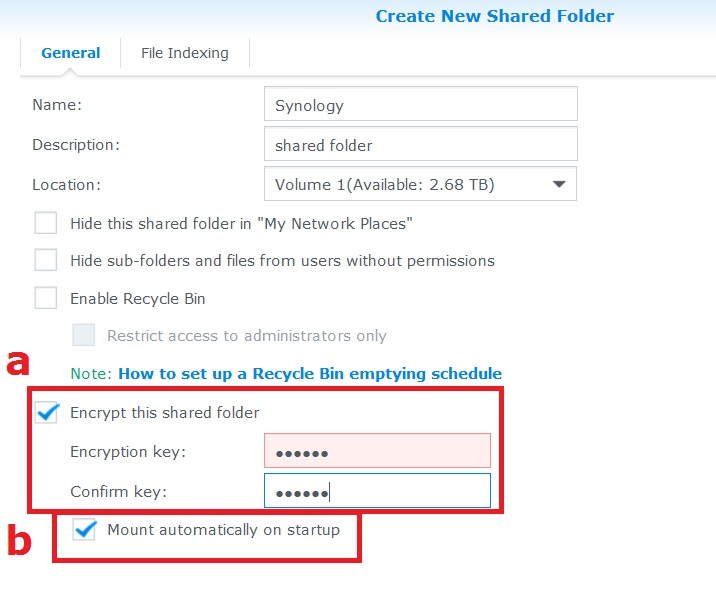 How to encrypt and decrypt shared folders on my Synology NAS