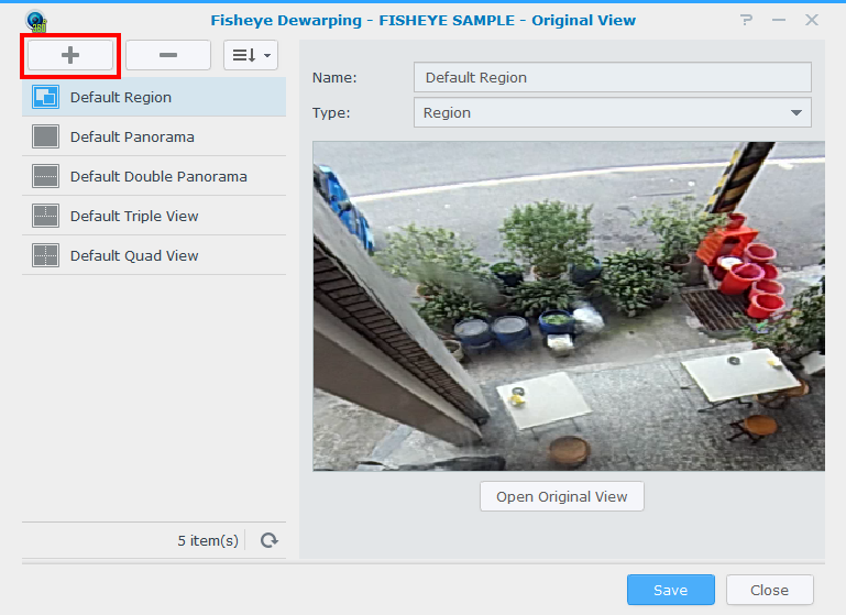 How to operate the fisheye dewarping feature in Surveillance