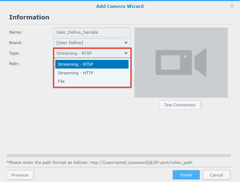 How to make an attempt to install an unsupported IP camera in