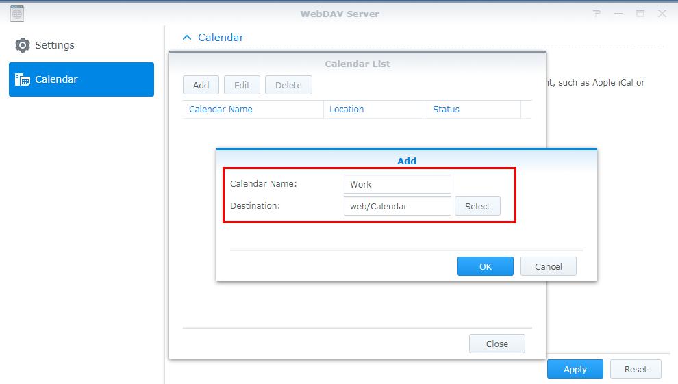 how to host a calendar server using the synology nas synology inc