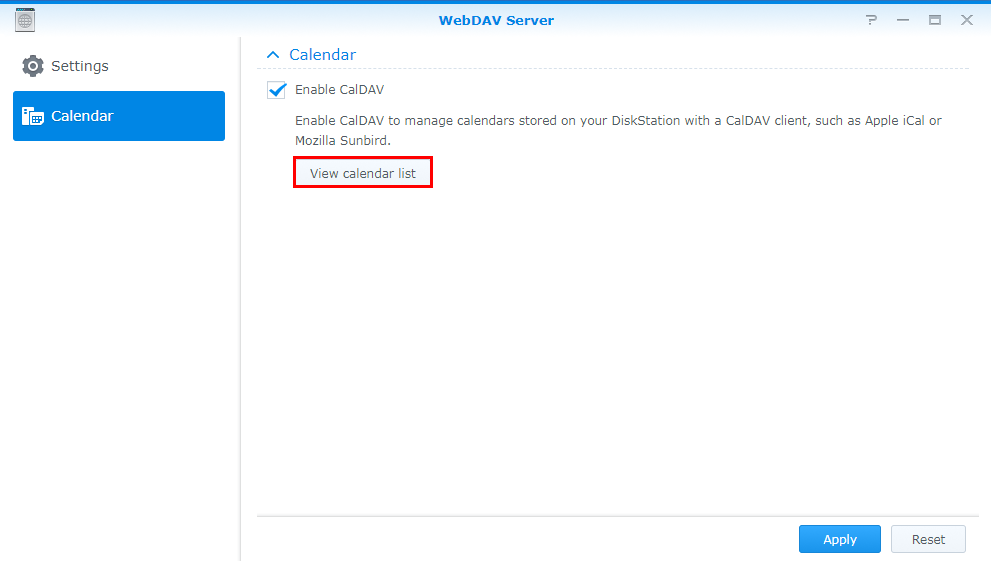 How to host a calendar server using the Synology NAS | Synology Inc