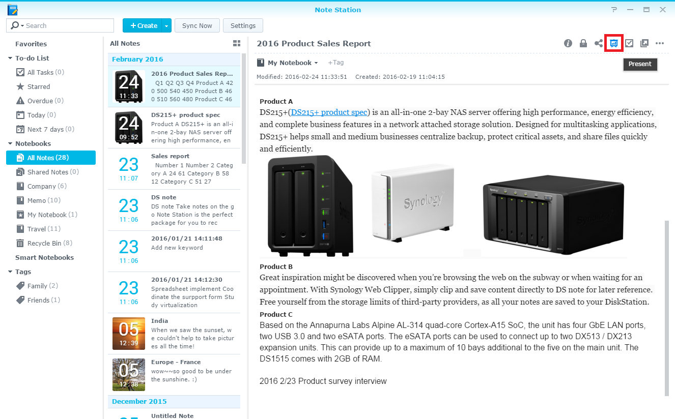 diskstation manager knowledge base synology inc in the presentation mode hover the mouse to the top right corner to stylize your presentation