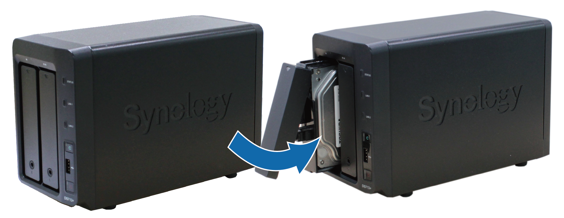 How To Migrate Between Synology Nas Dsm 60 And Later Inc Wire A Structured Wiring Panel Gohts Wiki Install The Temporary Hard Drive In Target