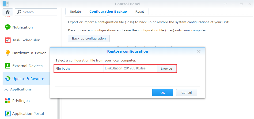 How to migrate between Synology NAS (DSM 6 0 and later) | Synology Inc