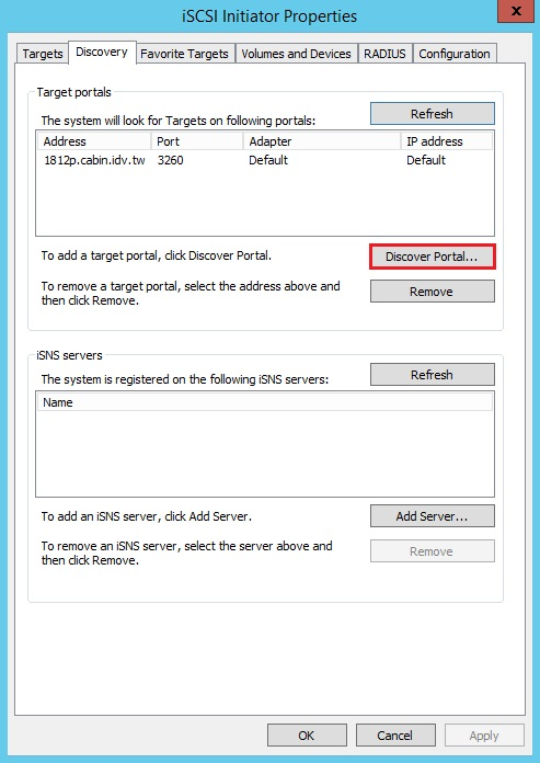 How to Use iSCSI Targets on Windows Computers with Multipath I/O