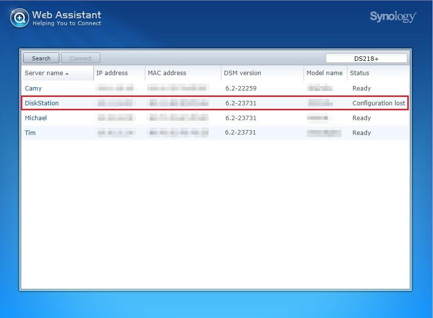 diskstation password reset