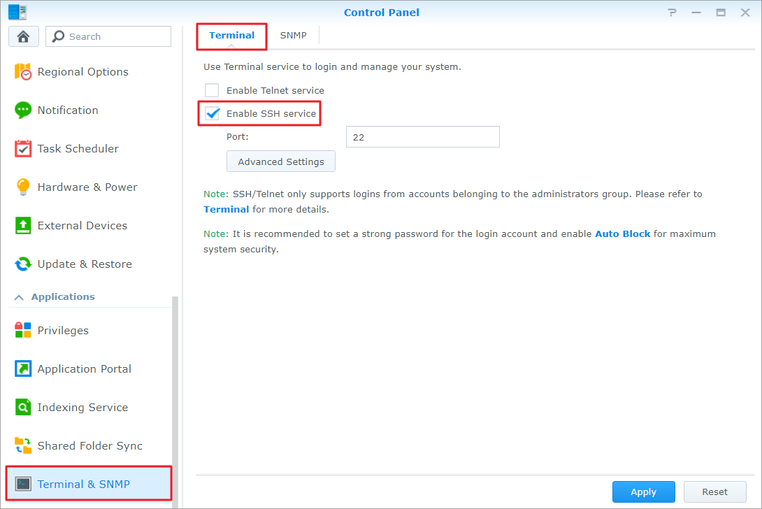 How to login to DSM with root permission via SSH/Telnet | Synology Inc