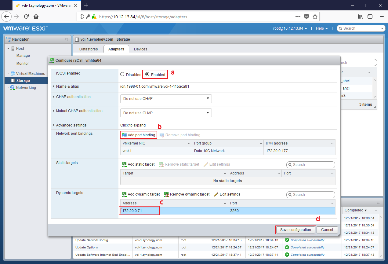 How to set up Synology NAS as VMware server datastore | Synology Inc
