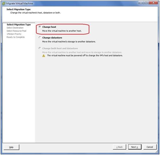 how to change ip adresse vm in vmware esxi