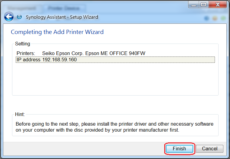 How to set up and use a multifunctional printer shared by Synology