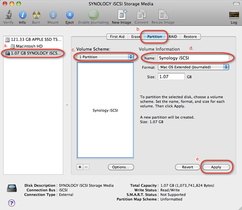 How to use iSCSI Targets on Mac computers | Synology Inc