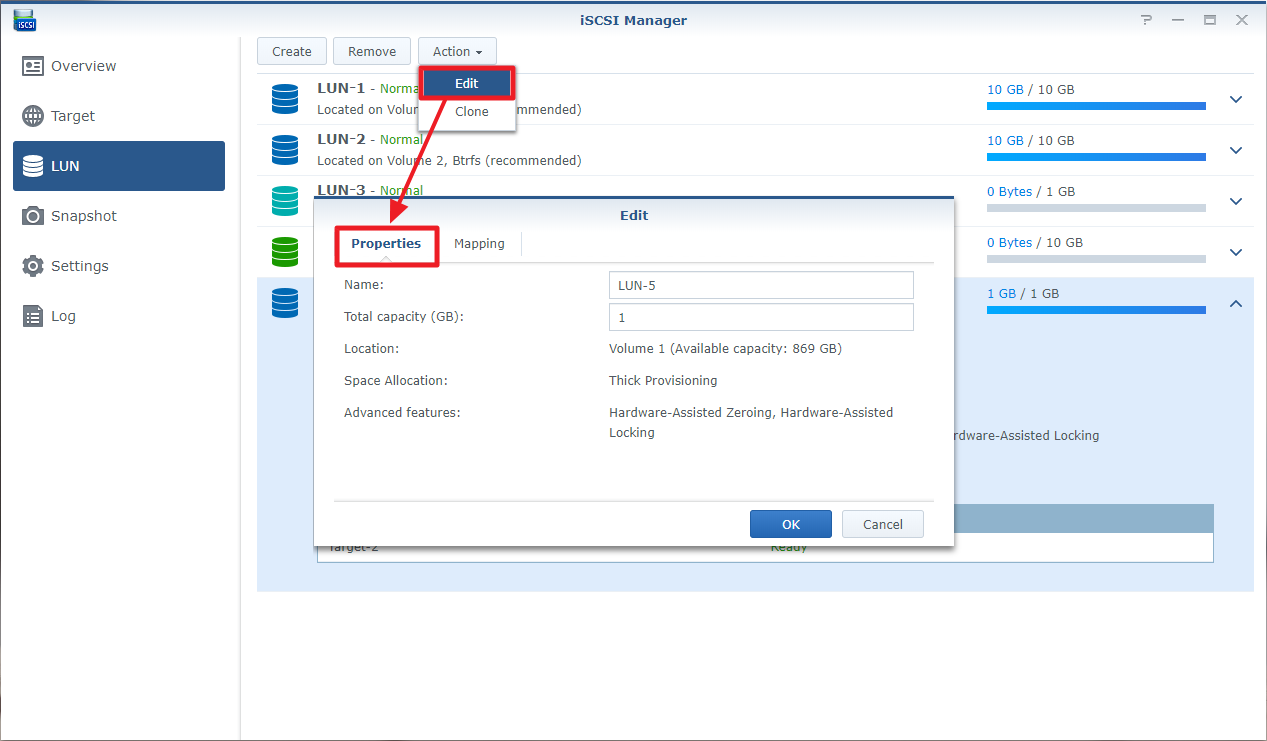 How to use iSCSI target service on Synology NAS | Synology Inc