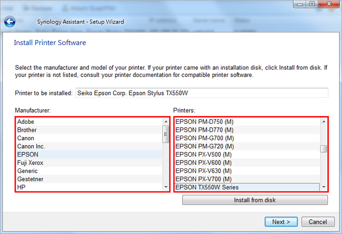 SYNOLOGY ADD PRINTER DRIVERS FOR WINDOWS XP