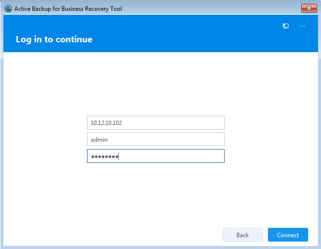 Active Backup for Business Recovery Wizard | Synology Inc