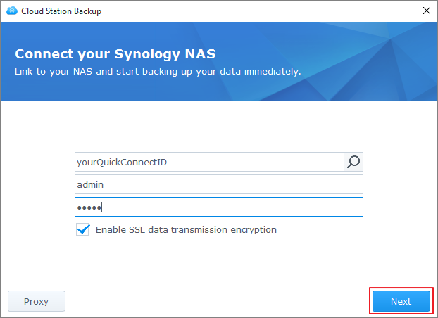 Back up the data on my PC/Mac using Cloud Station | Synology