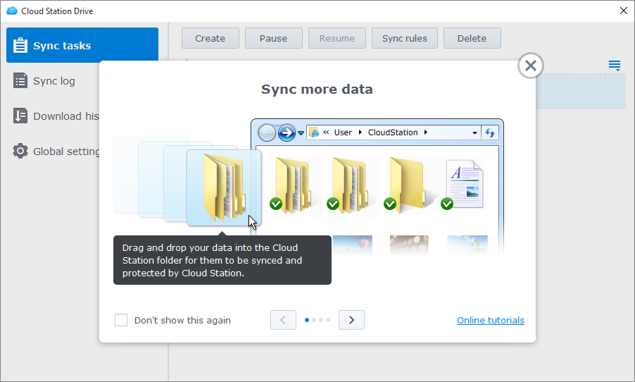 Sync files between Synology NAS and your computer using