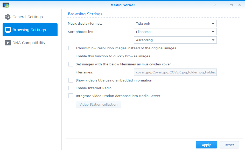 Enjoy multimedia contents stored on Synology NAS with big