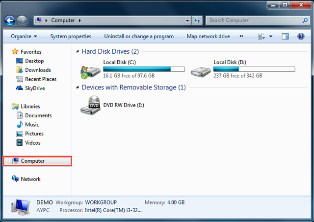 Store files to Synology NAS from a Windows PC within the