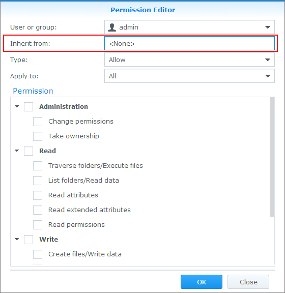 Assign Shared Folder Permissions - Synology DSM Help