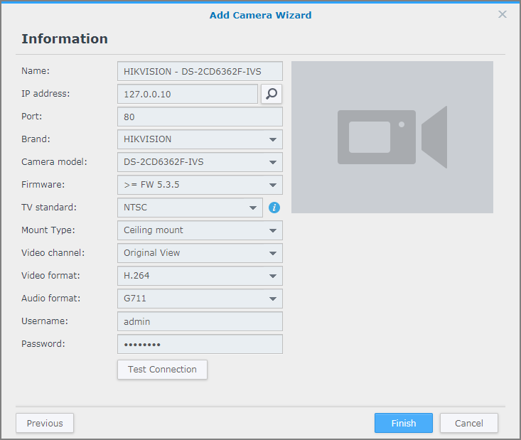 Add an IP camera to Surveillance Station | Synology Inc