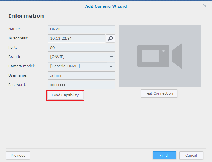 How to set up a camera that is not on the Support List | Synology Inc