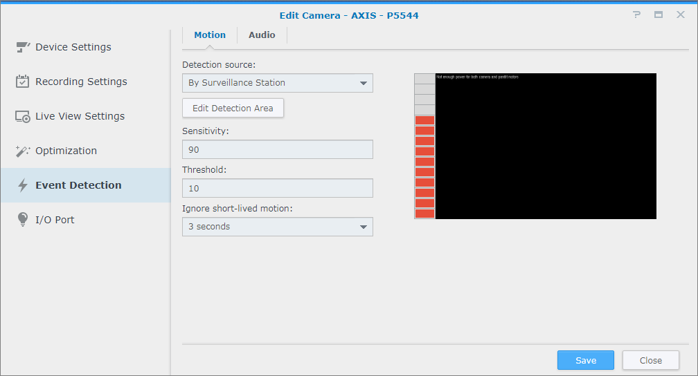 Set up Event Detection and view recordings | Synology Inc