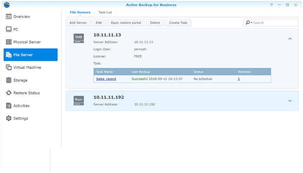 Active Backup Suite | VMware, Windows and SaaS backup