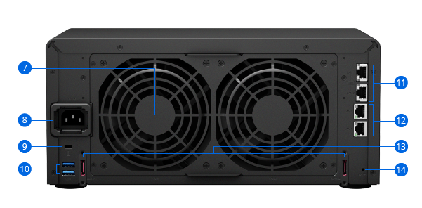 Synology NAS DS1817 Hardware