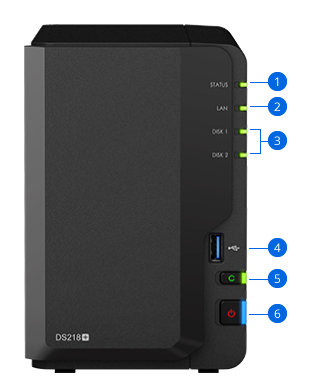 Synology NAS DS218+ Hardware