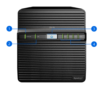 Synology NAS DS418j Hardware