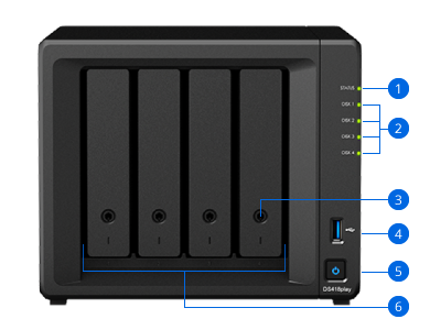 Synology NAS DS418play Hardware