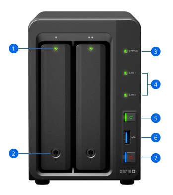 Synology NAS DS718+ Hardware