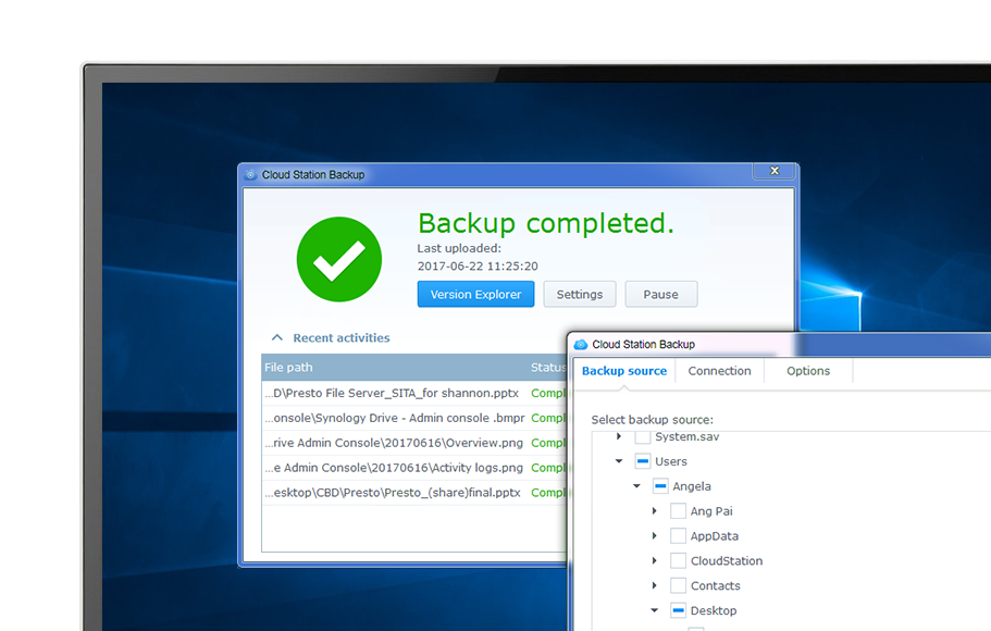 Synology NAS Real-time backup