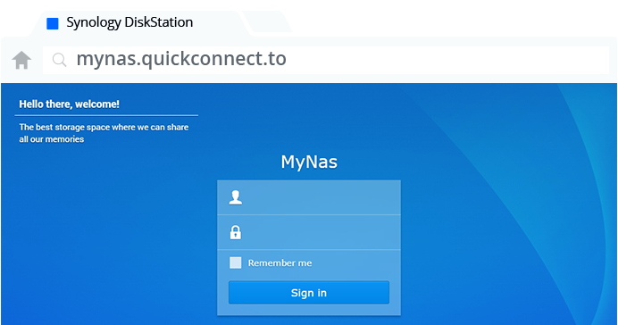 Synology NAS Easy file access with QuickConnect